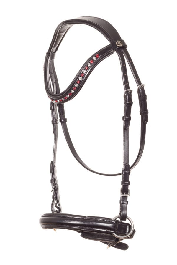 Red rose Bitless Bridle