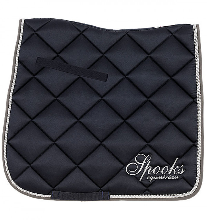 Spooks Dressage Pad Fineline navy grey