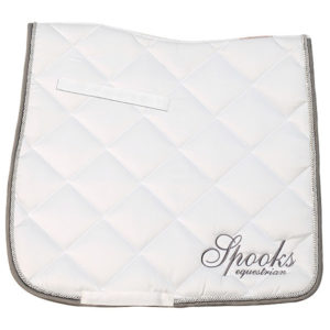 Spooks Dressage Pad Fineline White